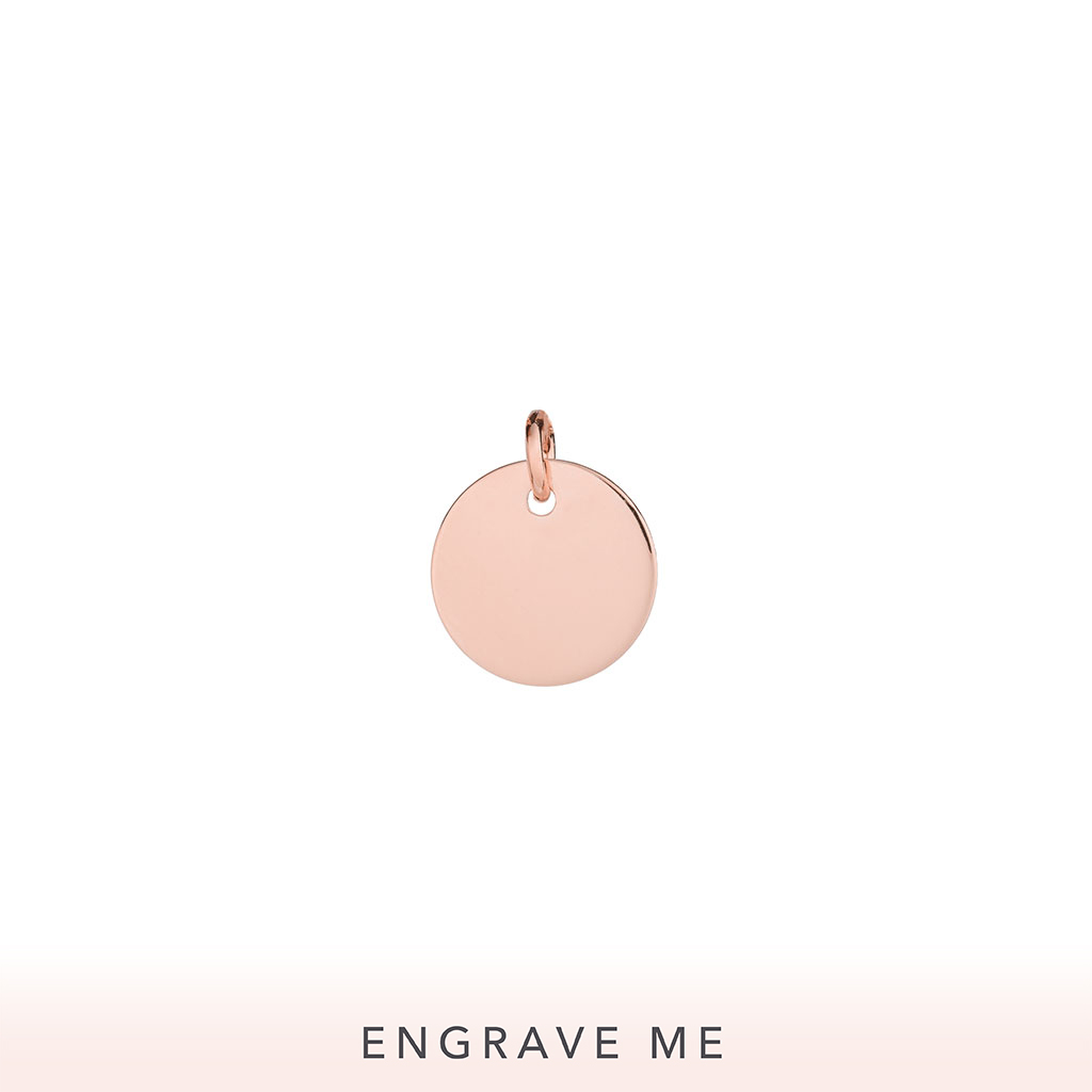 The Ensō Charm In Rose Gold.