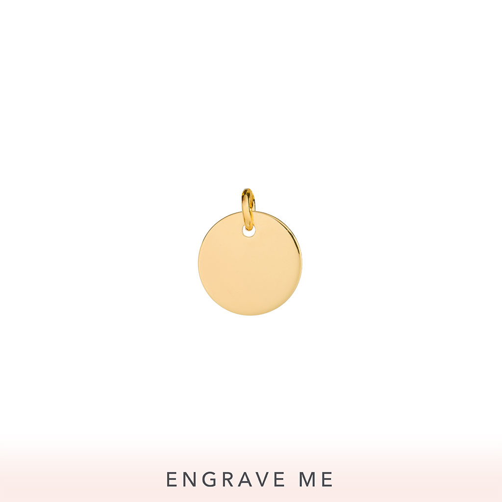 The Ensō Charm In Yellow Gold.
