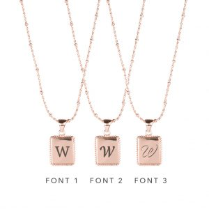 The Frida Necklace In Rose Gold - Engraving Options