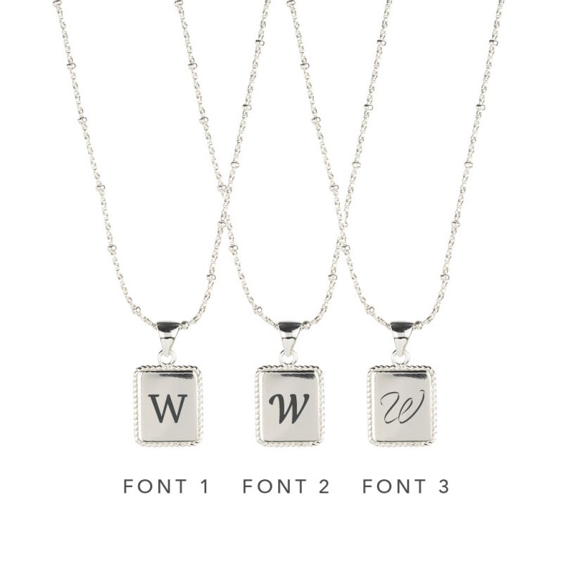 The Frida Necklace In Sterling Silver - Engraving Options