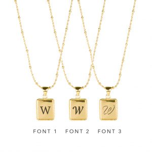 The Frida Necklace In Yellow Gold - Engraving Options