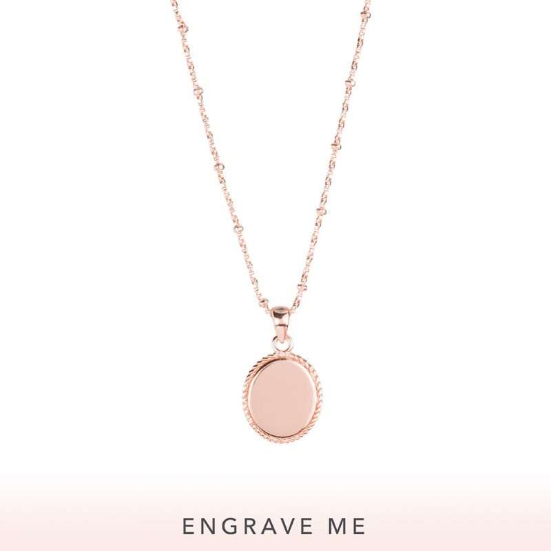 The Georgia Necklace In Rose Gold