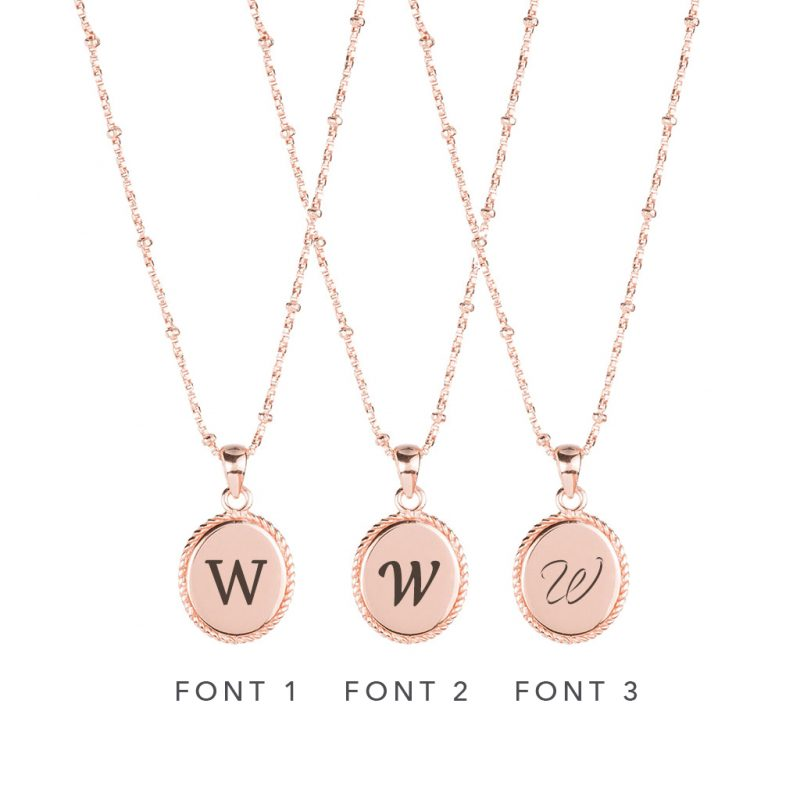 The Georgia Necklace In Rose Gold - Engraving Options