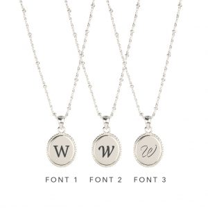 The Georgia Necklace In Sterling Silver - Engraving Options