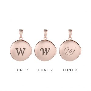 The Stella Locket In Rose Gold - Reverse Engraving Options