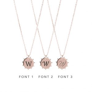 The Sunna Necklace In Rose Gold - Engraving Options