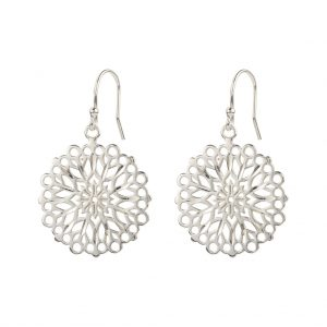 Flora Earrings In Sterling Silver