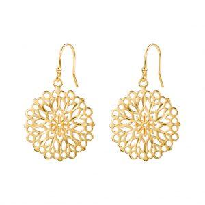 Flora Earrings In Yellow Gold