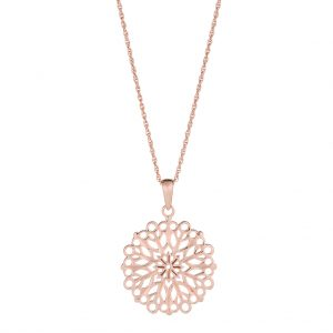 Flora Necklace In Rose Gold