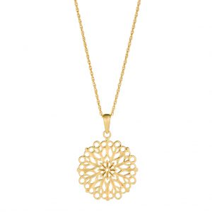 Flora Necklace In Yellow Gold