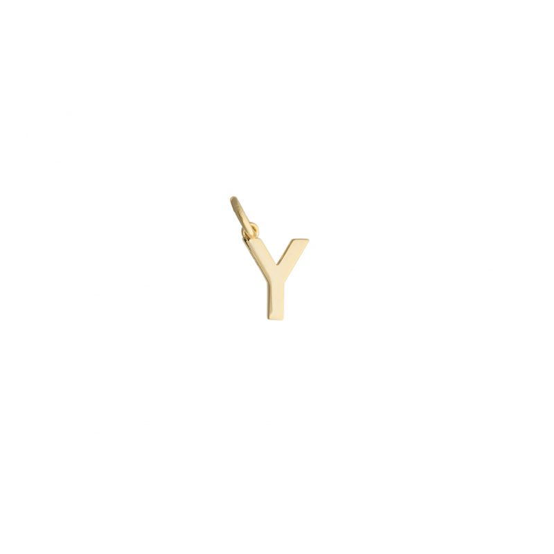 Alphabet 'Y' Charm In Yellow Gold