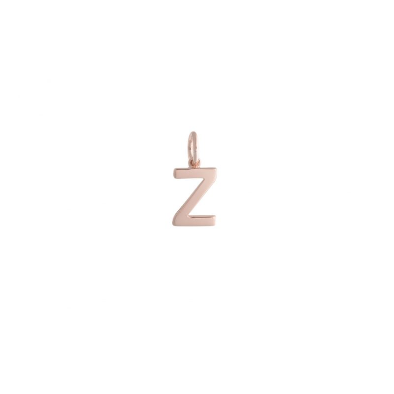 Alphabet 'Z' Charm In Rose Gold