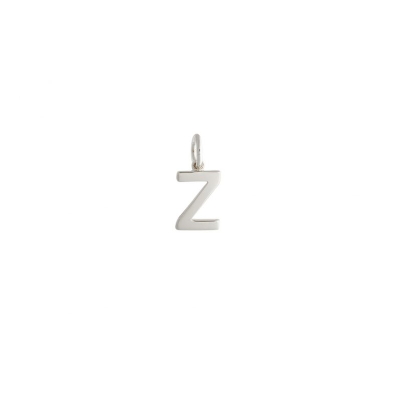 Alphabet 'Z' Charm In Sterling Silver